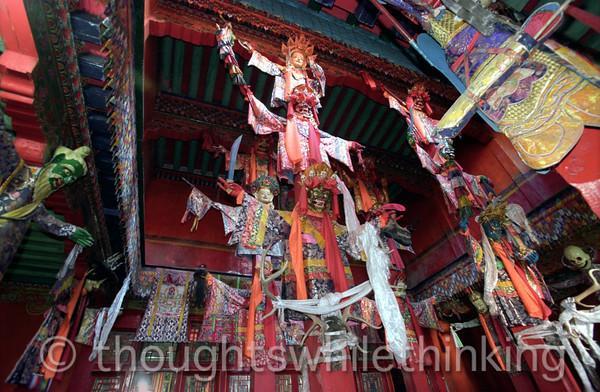 Tibet 2006 Chamdo Galden Jampaling Monastery masks Aug 5