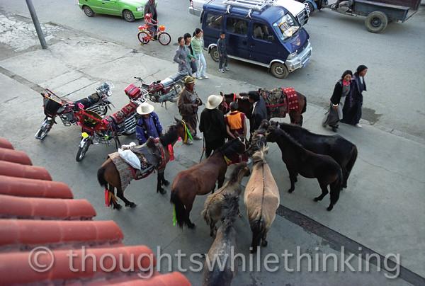 Tibet 2006 Litang horse traders Aug 2