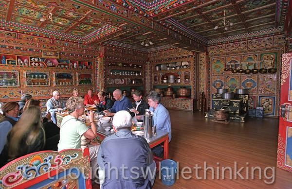 Tibet 2006 Litang GeoEx tour group lunch Aug 2
