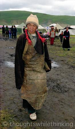 Tibet 2006 Litang Horse Festival pilgram Aug 1