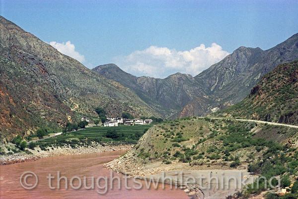 Tibet 2006 Zhongdian to Shating Yangtze River July 30