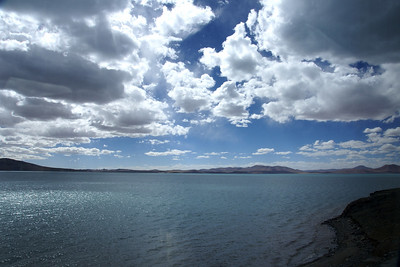 Lake north of Lhasa, taken from the train.