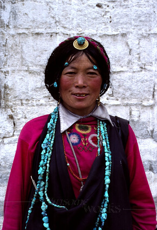 Tibetan woman we met in Lhasa, selling jewelry
