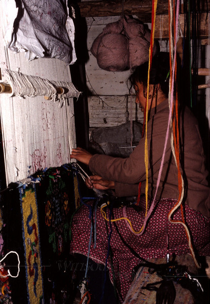 Rug-weaver in Lhasa