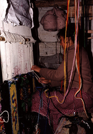 Rug-weaver in Lhasa