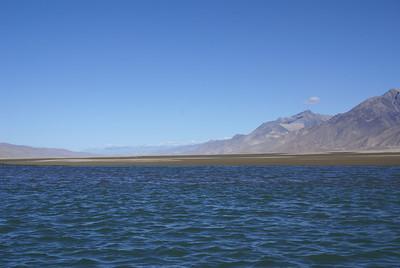 Yarlung Tsampo River near Samye landing. Note large sandbar.