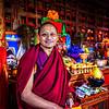 Monk inside the monestery