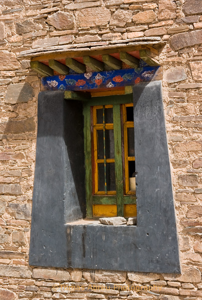 Window at Mindroling Monastery, Tibet