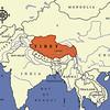 NE of India, Nepal and Burma, and SW of China.