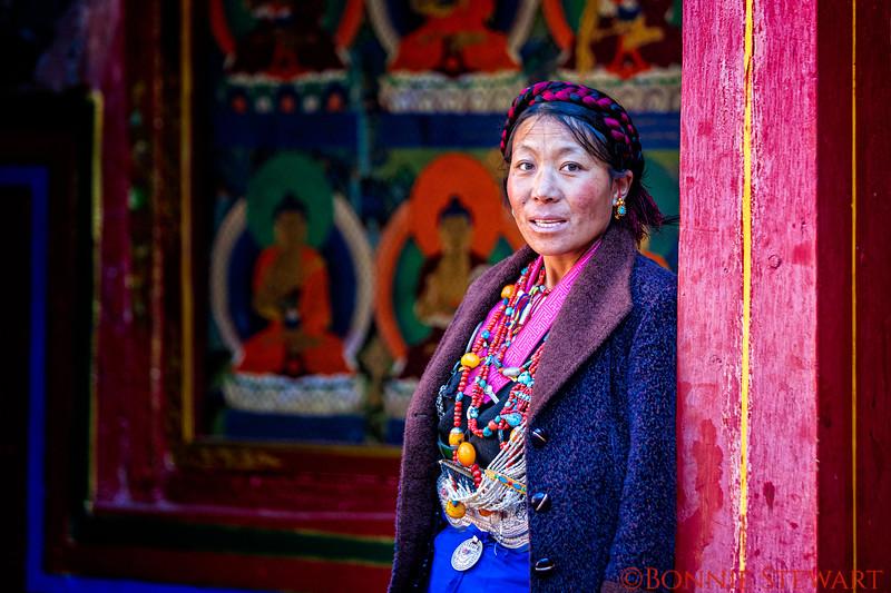 Local in the Samding Monastery