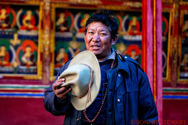 Local in the Samding Monastery