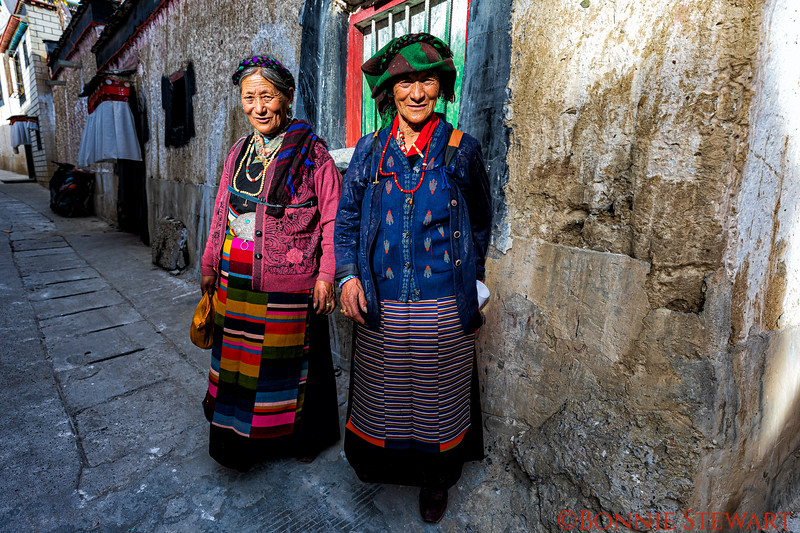 Locals walking the Old City of Shigatse