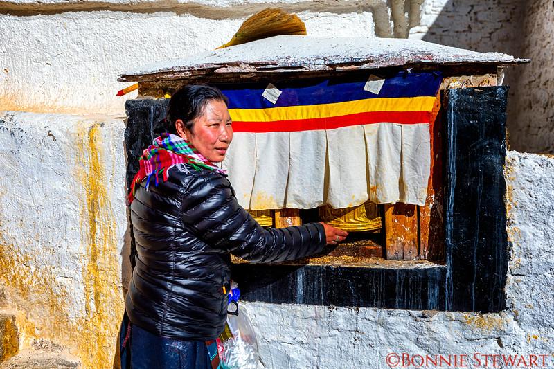 The Prayer wheels at Drepung Monastery