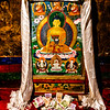 Ganden Monastery - art work of the Buddha inside the founder's home.