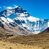 View from the Mt. Everest base camp.   Mt Everest is over 29,000 feet but it does not look quite as high in this image because I took the photo at Mt. Everest Base Camp that is at an elevation of  16, 791 feet!  That means that the peak is visually only 12,209 feet!