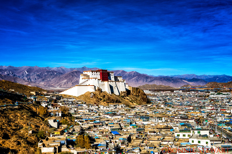 View of Shigatse and the Zong Castle