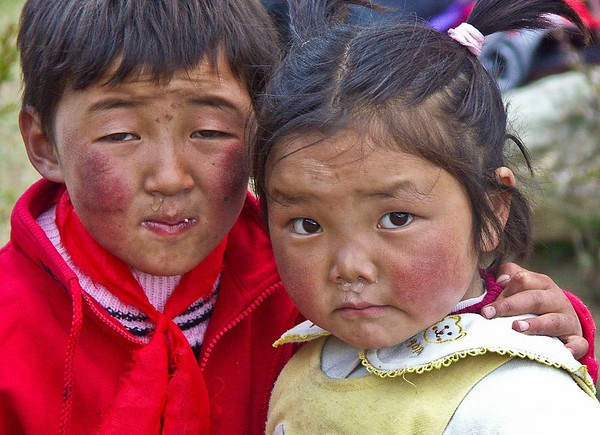Children from the village near Samye monastery, Tibet