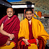 Monks wearing their prayer shawls after prayer