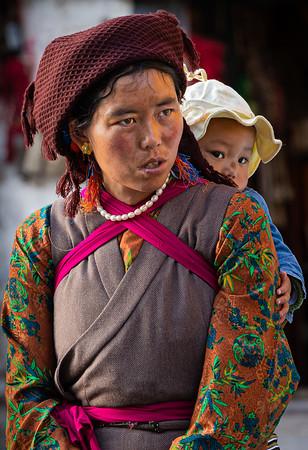 Girl on Kora, Jokhang Temple, Lhasa
