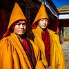 Monks wearing their Prayer Shawls