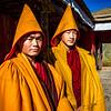 Monks wearing their Prayer Shawls