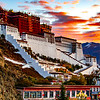 Portola Palace in Lhasa at sunrise