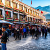 Barkor Street in Old Lhasa around the Jokhanf Temple