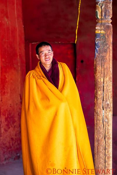 Monk wearing Prayer shawl