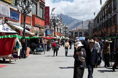 Lhasa streets.