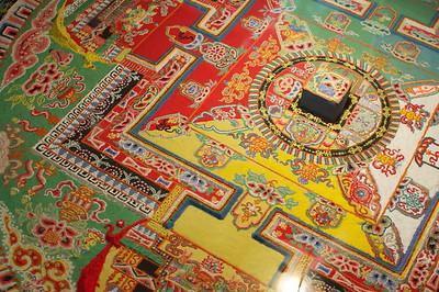 A sand mandala at Sera Monastery.