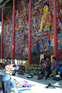 Wall of One Thousand Buddhas.