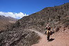 climbing slowly via hundred years old quechua trails