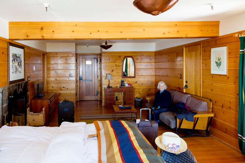 Our room at Timberline Lodge is splendid.