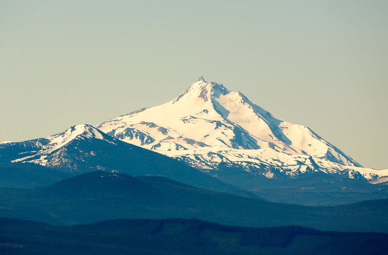 In front of Mt. Jefferson is Ollalie Butte, 35 miles away.