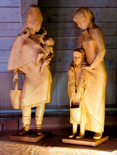 WPA sculptures: Multicultural mothers and children