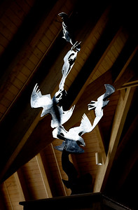 Raven Sculpture in the 3rd level of the Lodge