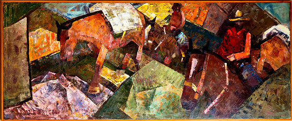 Painting: Pack Train by C. S.  Price, 1937