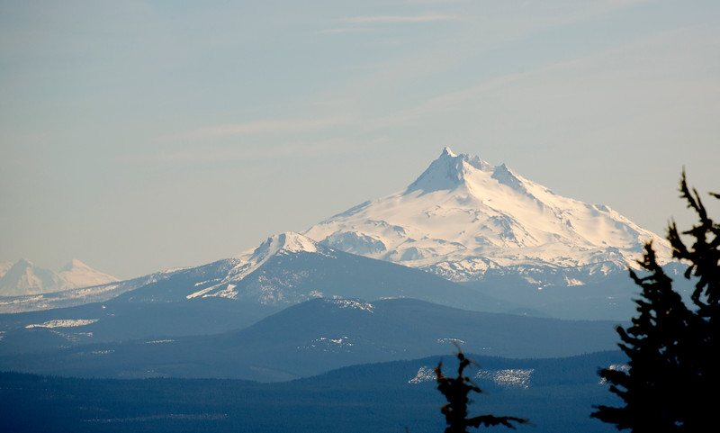 Mt. Jefferson 40 miles south of us.