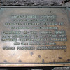This commemorative plaque is set into the ledge of the balcony at exactly the spot where FDR formally opened the Lodge.