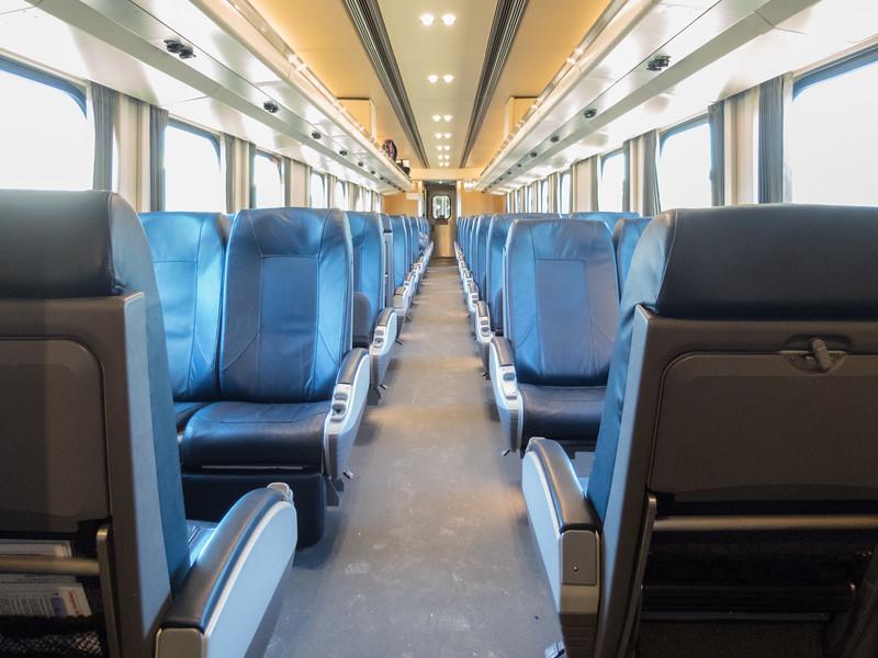 Interior Ontario Northland Railway coach 650 in Moosonee.