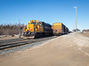 Ontario Northland Railway auxiliary power unit (APU) 202 in Moosonee 2017 April 10th.