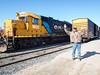 George Job at Moosonee train station.