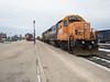 Polar Bear Express mixed train ready to head north from Cochrane.