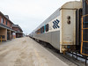 Passenger consist of Ontario Northland Railway mixed train the Polar Bear Express in Cochrane 2017 April 12th.