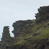 Wlind-swept landscape on Tintagel Head