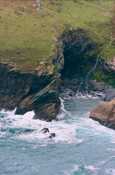 One of several spectacular caves at Tintagel