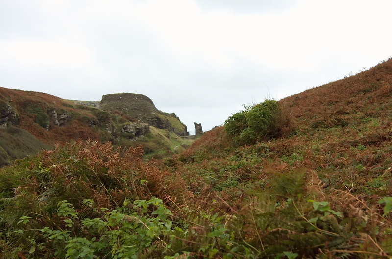 Crumbling ramparts at Tintagel