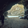 Inside Merlin's cave at low tide