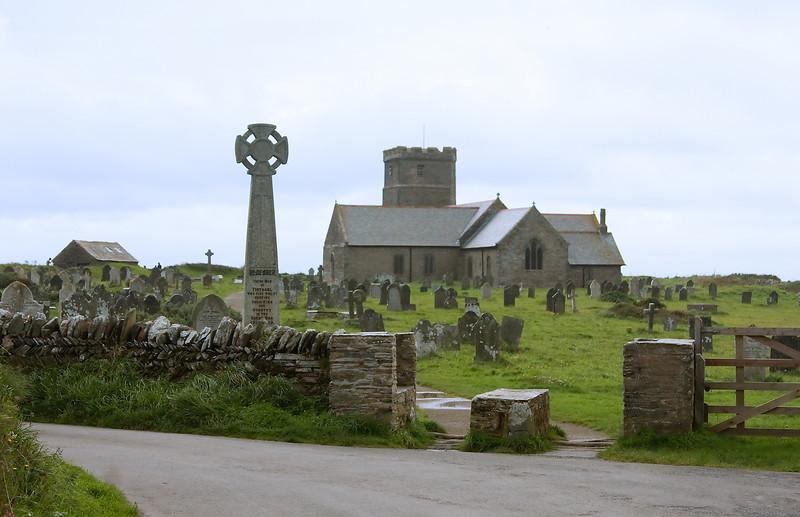 St. Materiana Church at Tintagel, Cornwall, UK