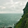 King Arthur's profile on Tintagel Head